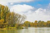 Il fiume in un giorno d'autunno — Foto Stock