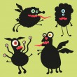 Happy monsters vector images. Set 5 — Stock Vector #31472443