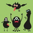 Happy monsters vector images. Set 2 — Stock Vector #31472445