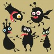 Happy monsters vector images. Set 8 — Stock Vector #31472497