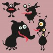 Happy monsters vector images. Set 9 — Stock Vector #31472517