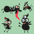 Happy monsters vector images. Set 10 — Stock Vector #31472525