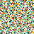 Seamless pattern with triangles and rhombuses. — Stock Vector