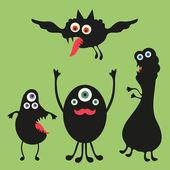 Happy monsters vector images. Set 2 — Stock Vector