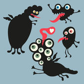 Happy monsters vector images. Set 3 — Stock Vector