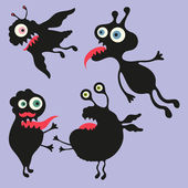 Happy monsters vector images. Set 6 — Stock Vector