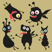 Happy monsters vector images. Set 8 — Stock Vector