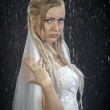 Bride water studio portrait. — Stock Photo