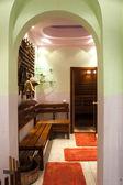 Interior in sauna room. — Stock Photo