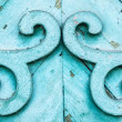 Blue old wooden decoration — Stock Photo