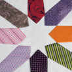 Star made of ties — Stock Photo