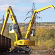 Excavators working on scrapyard. — Stock Photo #31446407