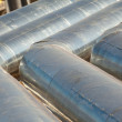 Metal pipes of metallurgical plant — Stock Photo