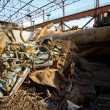 Stock Photo: Scrap metal in backyard of factory