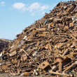 Stock Photo: Pile of rusty scrap metal.