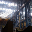 Stock Photo: Construction of workshop for production of rolled steel