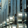 Stock Photo: Metal pipes of metallurgical plant