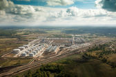 Aerial view of a factory — Stockfoto