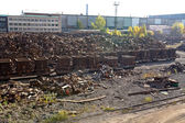 Scrap metal in the backyard of the factory — Stock Photo