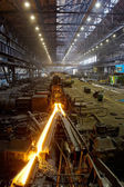 Production of rolled steel — Stock Photo