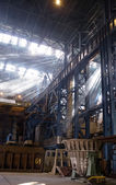 Construction of workshop for steel production — Stock Photo