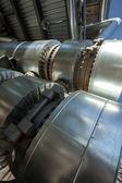 金属管道的冶金厂 — 图库照片