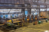 Workshop for production of rolled steel — Stock Photo