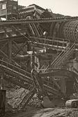 Boru hattı çalışma ekskavatör. — Stok fotoğraf