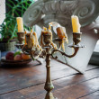 Old candlestick with candles — Stock Photo