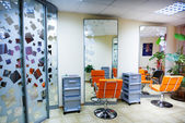 Interior of modern hair salon — Stock Photo