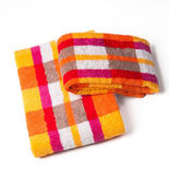 Towels isolated on white — Stock Photo