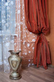 Curtain in the modern apartment — Stockfoto