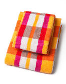 Towels isolated on white — Foto de Stock