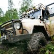 Stock Photo: Off road car in forest