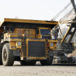 Stock Photo: Big yellow mining truck