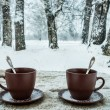 Two cups of tea — Stock Photo #41446557