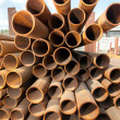 Stack of pipes — Stock Photo