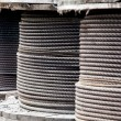 Large rolls of steel cables — Stock Photo