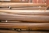Stack of rods or bars — Stock Photo