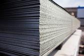建設工事における鋼板 — ストック写真