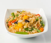 Rice salad with vegetables — Stock Photo