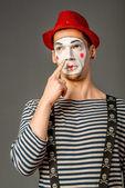 Grimacing clown — Stock Photo