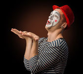 Забавный клоун — Стоковое фото