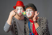 Two clowns — Photo
