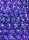 Fondo abstracta hecha a mano de noche estrellada — Foto de Stock