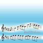 музыкальные примечания — Cтоковый вектор