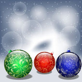 Background with christmas balls. Vector illustration — Vettoriale Stock