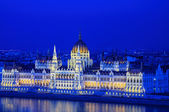 Parliament in Budapest at the night — Stock Photo
