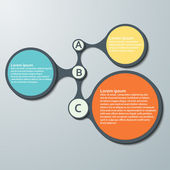Infographic Design Template. Vector illustration — Vector de stock