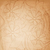 Retro flower background . Vector illustration — Vettoriale Stock